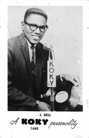 DJ Promo Photo from Bell's early days at KOKY Radio in Little Rock, Arkansas