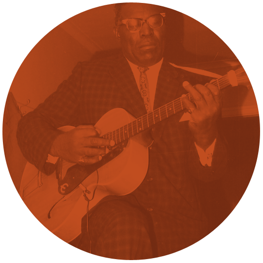 Howlin playing guitar