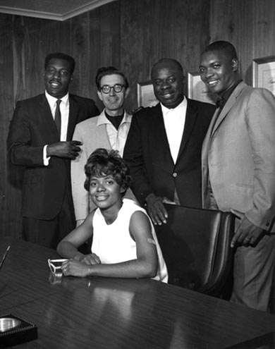 Otis Redding, Jim Stewart, Rufus Thomas, Carla Thomas, Booker T.