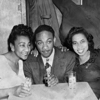 Lil Hardin Armstrong, jazz trombonist J.C. Higginbotham and blues singer/songwriter Alberta Hunter