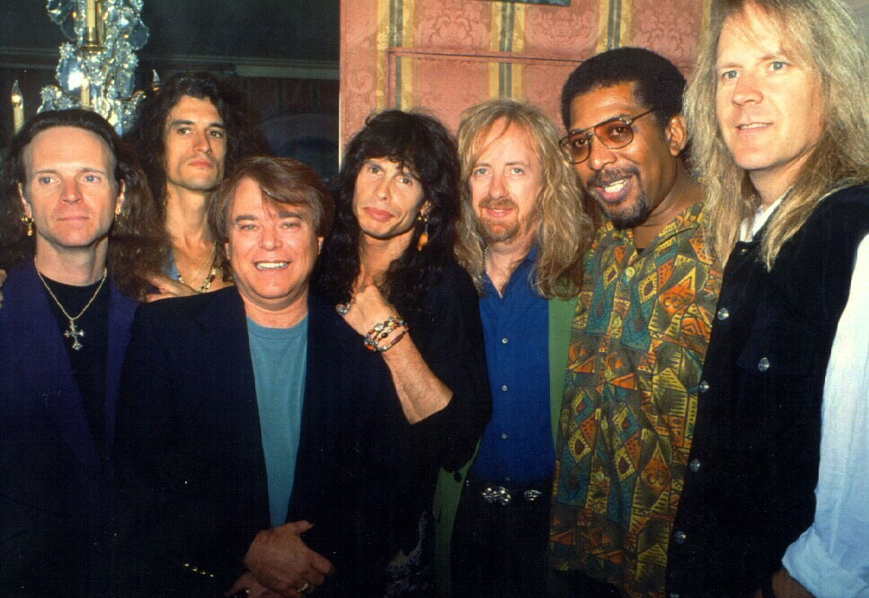 Wayne Jackson with Aerosmith