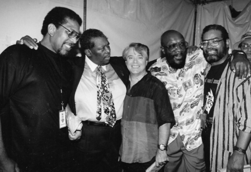 Wayne Jackson with B.B. King, Isaac Hayes, and Marvell Thomas