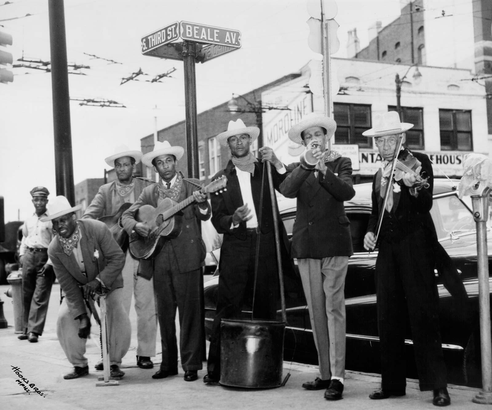 Memphis Jug Band street scene