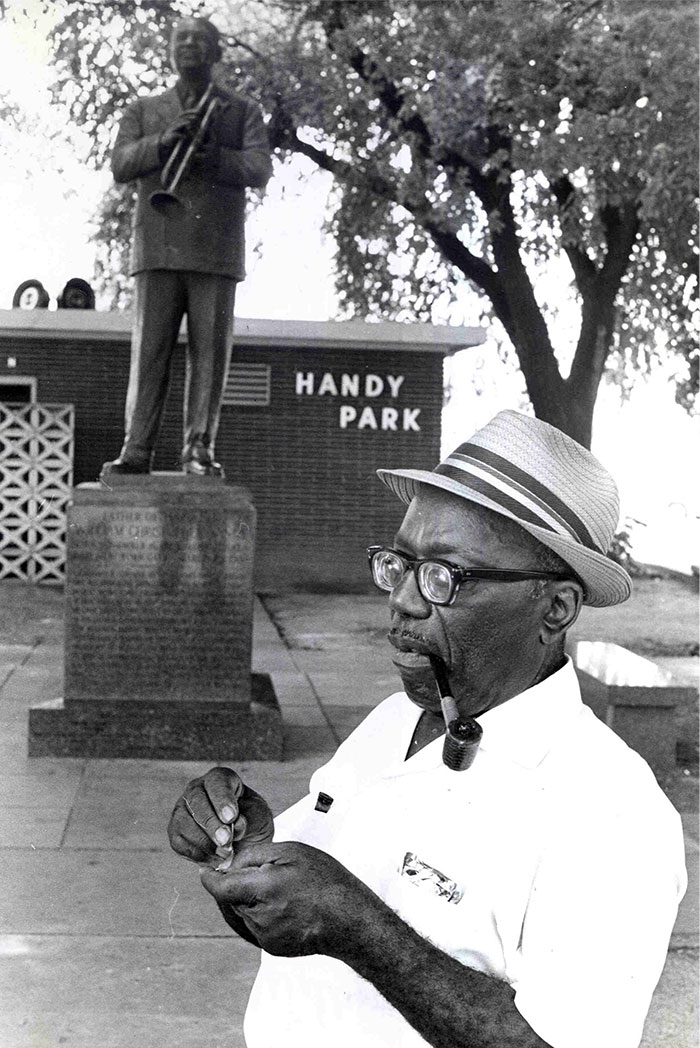 Nat D. Williams at Handy Park