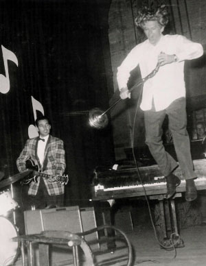 Jerry Lee Lewis with Roland Janes on Guitar