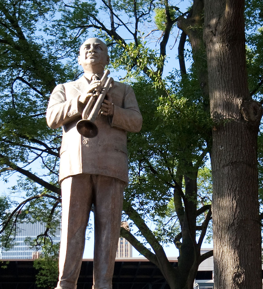 Statue at W.C. Handy Park, Memphis, Tennessee