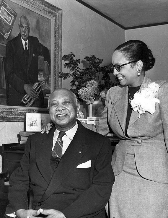 W.C. Handy and his wife