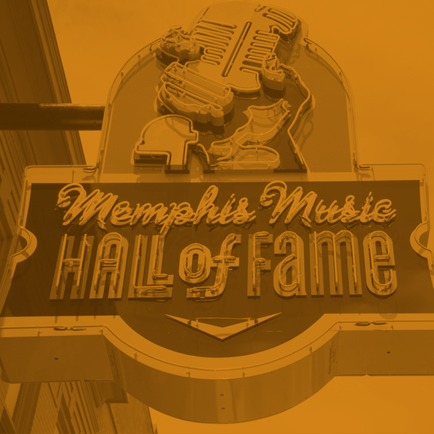 Memphis Music Hall of Fame sign