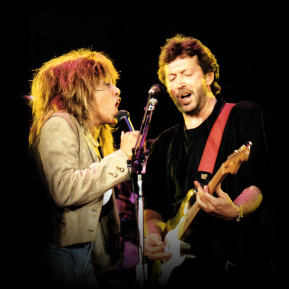 Tina performs with Eric Clapton